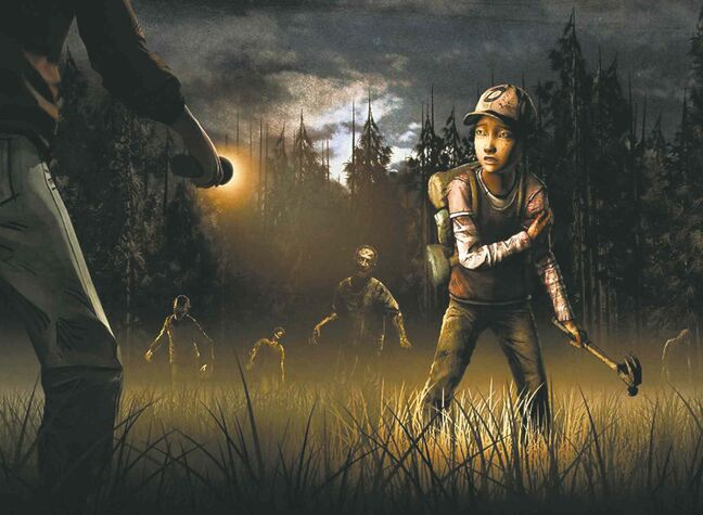 Clementine battles zombies in Walking Dead: Season 2.