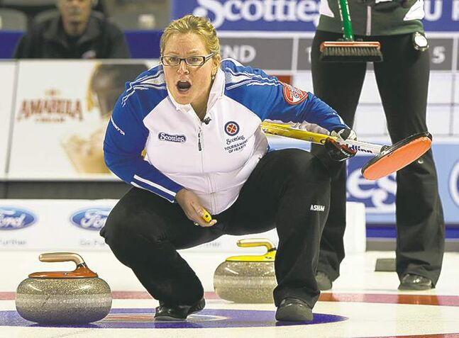 Ryan Remiorz / the canadian press B.C. skip Kelly Scott pulled off a crucial triumph over P.E.I. Wednesday night.
