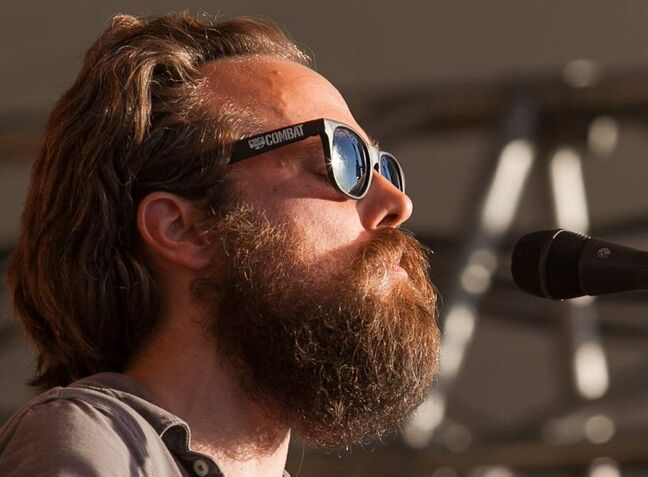 Sam Beam, the American singer-songwriter known as Iron and Wine, performs Sunday evening at the 2012 Winnipeg Folk Festival main stage. Melissa Tait / Winnipeg Free Press