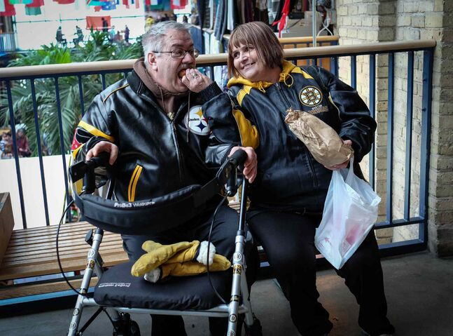 Whenever Cathy and Tom go to The Forks they get mini-donuts as a treat.