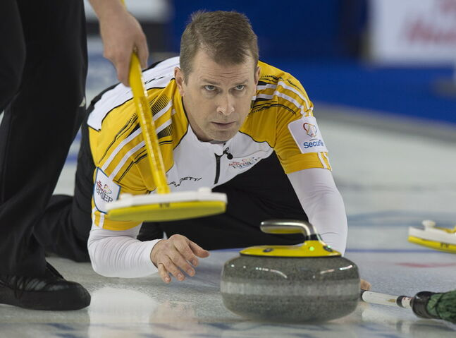 British Columbia lost a see-saw battle with Jeff Stoughton in a pivotal round-robin game Thursday.