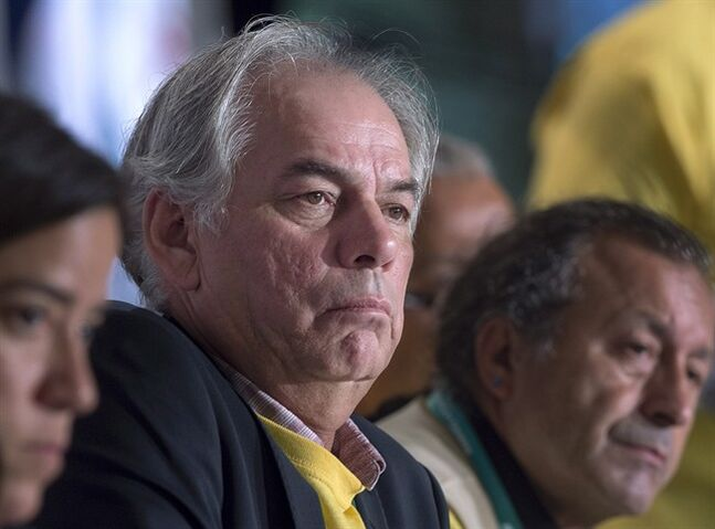 Ghislain Picard, the Assembly of First Nations' regional chief for Qu�bec and Labrador, participates in a session as native leaders from across Canada attend the Assembly's 35th annual general meeting in Halifax on Wednesday, July 16, 2014. Picard has hinted he may enter the race to replace former Assembly of First Nations national chief Shawn Atleo who resigned in the fallout over the federal government's proposed overhaul of aboriginal education. THE CANADIAN PRESS/Andrew Vaughan