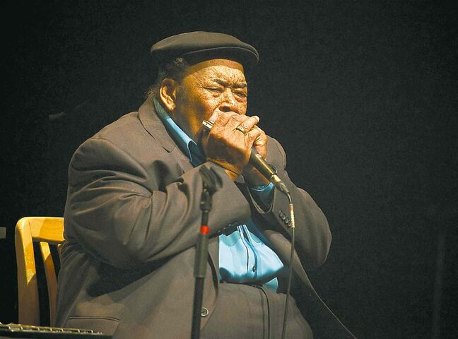 Blues harmonica maestro James Cotton gave jazz festival fans their money's worth Tuesday.