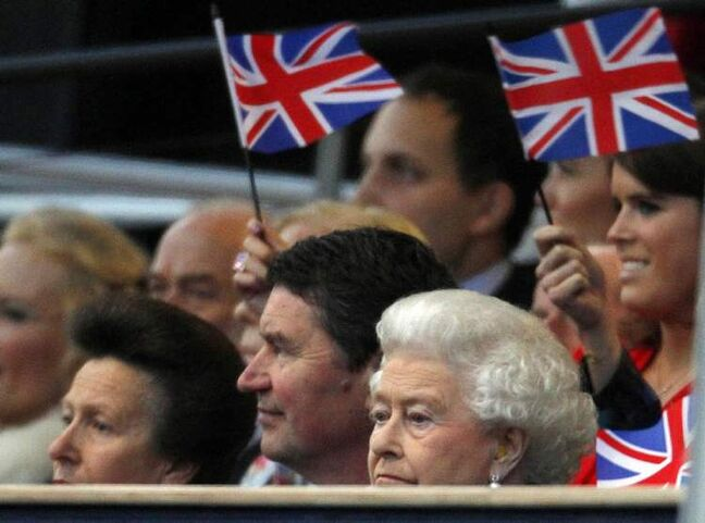 Britain's Queen Elizabeth II attends the Diamond Jubilee concert.