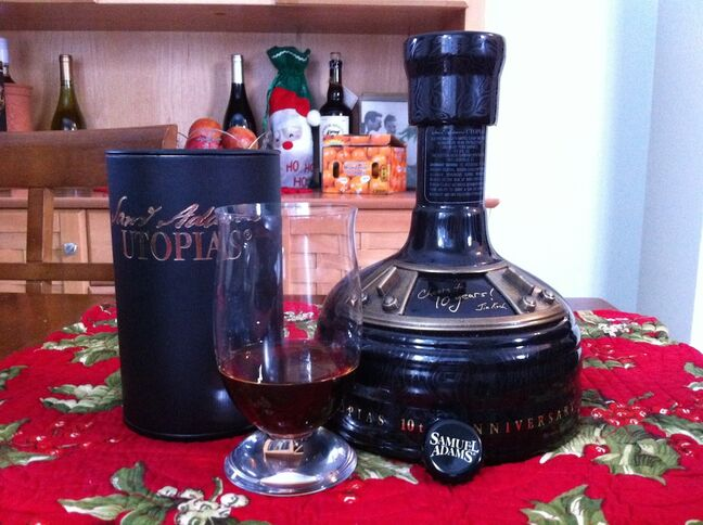 The 2012 bottling of the Samuel Adams Utopias, which also came with a Riedel glass.