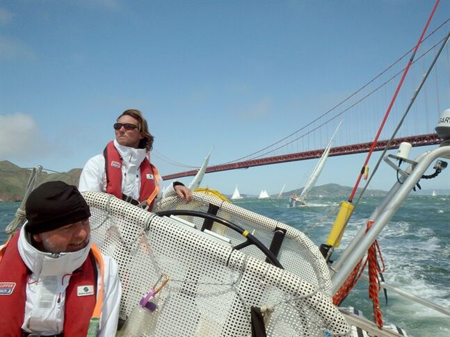 Eric Holden sails in San Francisco Bay in an undated handout photo released on Thursday July 10, 2014. THE CANADIAN PRESS/HO