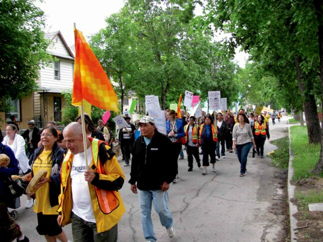 March Against Violence participants are seen taking to the streets during the walk in 2011.