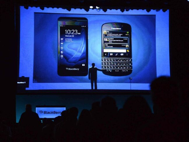 BlackBerry unveiled the Z10 in January.