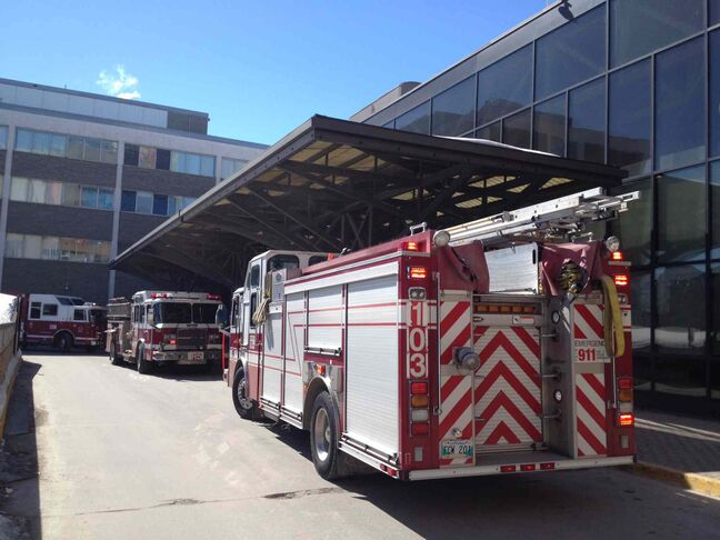 The Health Sciences Centre building on Sherbrook Street is being evacuated after a reported chemical spill.