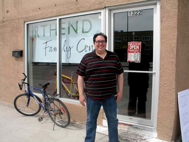 North End Family Centre executive director Kyle Mason outside the community gathering place's current location at 1322 Main Street. NEFC is planning to move to a bigger space at 1344 Main Street.