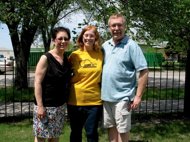 Jocelyne Yanofsky (centre), with her parents Sharon and Albert. Jocelyne will be competing in the Special Olympics Canada Summer Games in Vancouver in July.