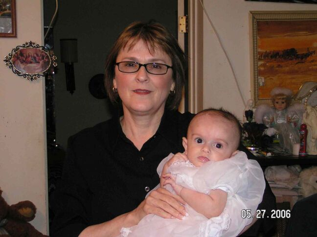 Diane Paul with her grandson.