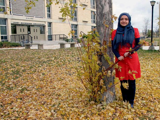 Shaden Abusaleh, 16, is just one of the leaders in her school's Activists for Change group. The Fort Richmond Collegiate student is helping to raise money for Syrian refugees, First Nation's water pertifiers, and women's rights.