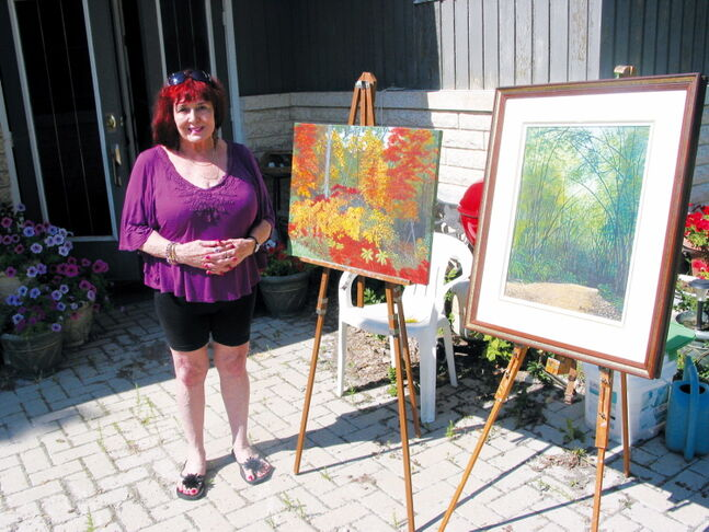 Rosser artist Dolly Dennis prepares to welcome South of the Lakes Art Tour participants to her home on Sept. 21 and 22.