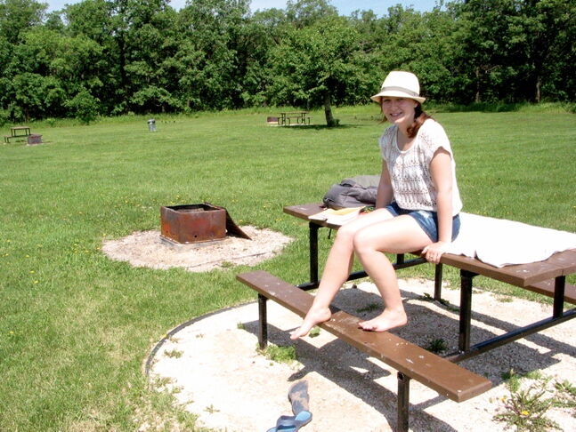 Uilia Macavei, of Winnipeg, made her first trip to Beaudry Provincial Park on a recent sunny June morning.