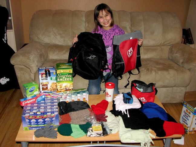 Eleven-year-old Callie Costello saw a movie about a young boy who donated backpacks to the less fortunate, which inspired her to do the same.
