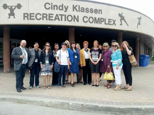 You can't have Klassen in town and not bring her to the Cindy Klassen Recreation Complex (999 Sargent Ave.).