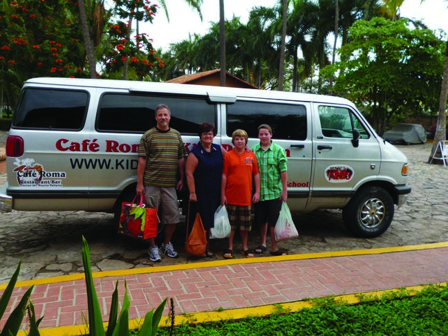 From left — Barry Liscum, Jennifer Lawson, Jeremy Liscum, and Devon Liscum are off to help Mexican kids.