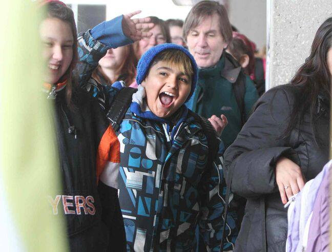 Hundreds of excited kids are escorted into the convention centre Saturday to audition for the Next Star.