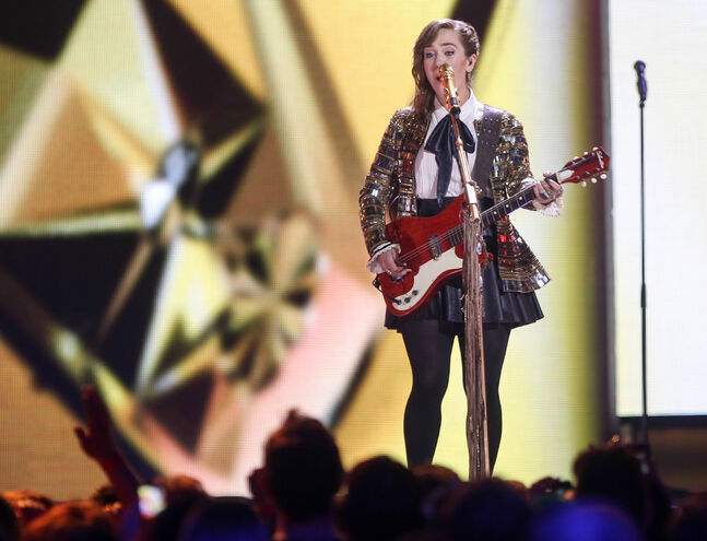 Serena Ryder opens the Juno Awards 2014 at MTS Centre in Winnipeg (Joe Bryksa/ Winnipeg Free Press)
