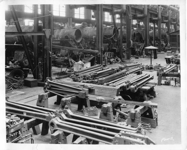 L. B. Foote / Winnipeg Free Press Archives Locomotive Erecting Shop Weston CP Rail Shops