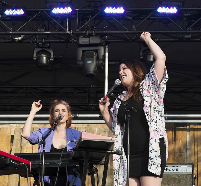 Chic Gamine performs Thursday night at Folk Fest.