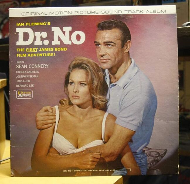 Jeff Beque of Winnipeg, not pictured, has a James Bond room in his basement. One of his many items is the original motion picture soundtrack album for Dr. No.