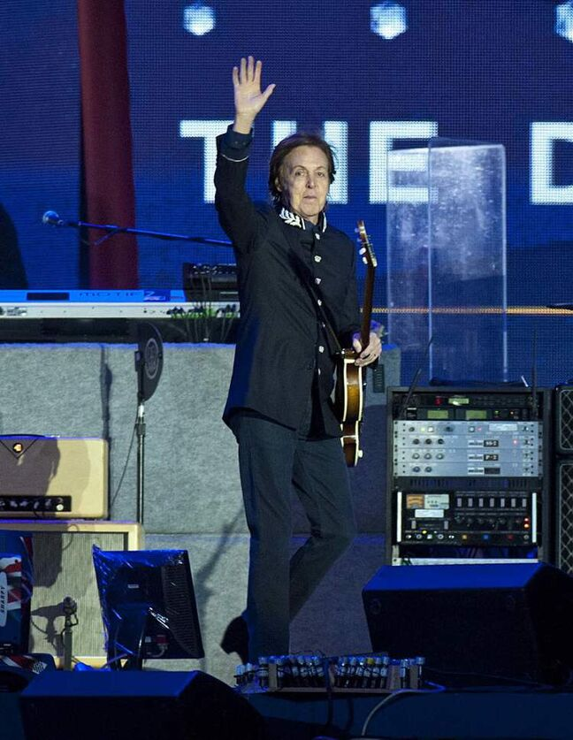 Sir Paul McCartney performs at the Queen's Jubilee Concert.