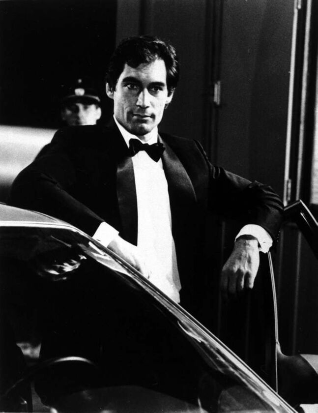 Timothy Dalton as James Bond in The Living Daylights (1987).