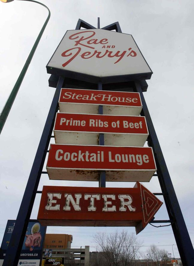 Rae and Jerry's Steak House is a Winnipeg institution.