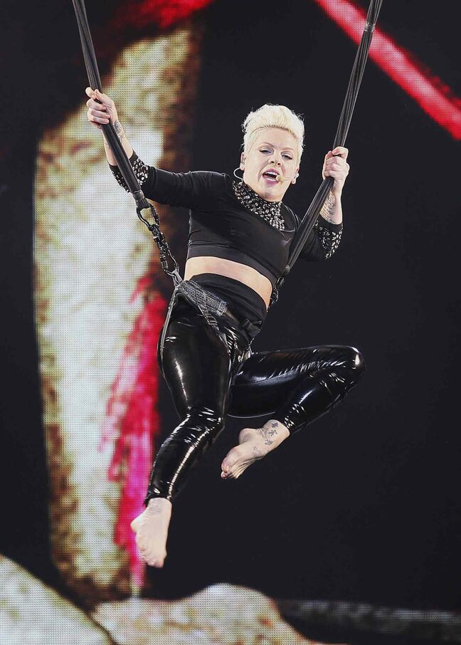 She's now an internationally known superstar, but Pink trained as a gymnast before her singing career took off.