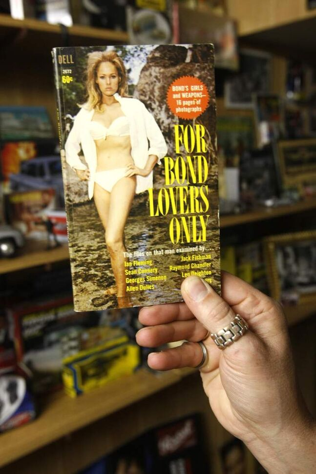 One of collector Jeff Beque's items is an book featuring Bond girls.