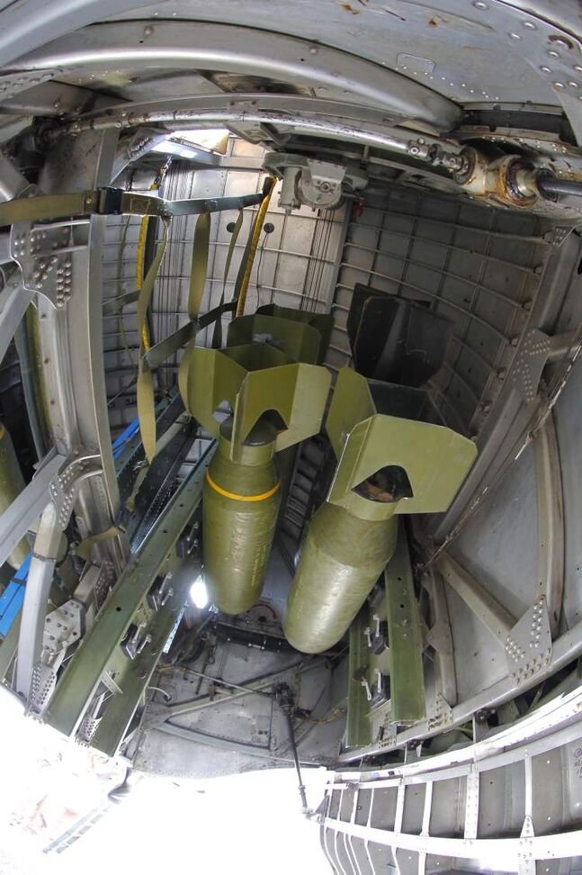 Bomb bays on a B-17 could hold up to 8000 pounds.