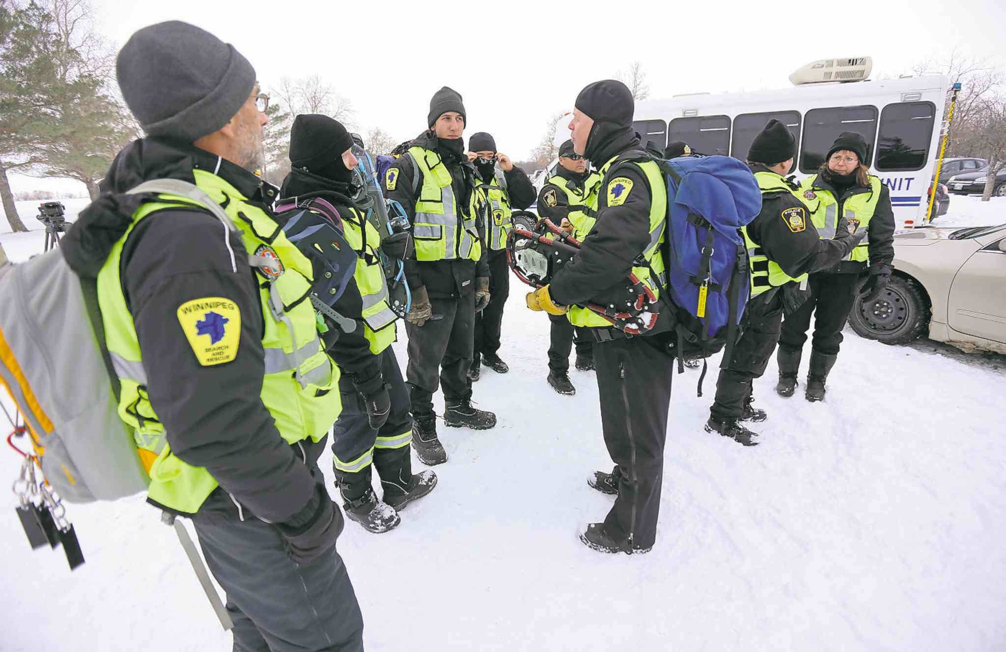 Police officers and others take part in Saturday�s session.