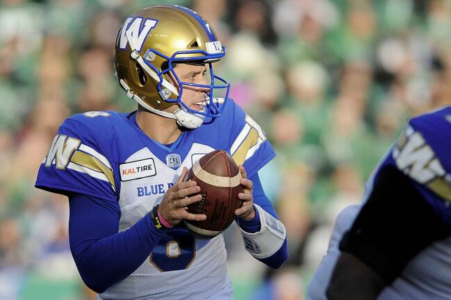 Winnipeg Blue Bombers quarterback Zach Collaros.