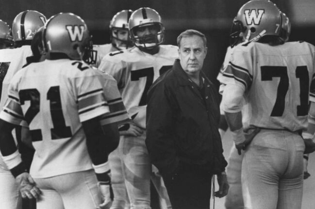 Dave Buston / THE CANADIAN PRESS FILES</p><p>Winnipeg Blue Bombers general manager Cal Murphy played an instrumental role in bringing the Grey Cup final to Winnipeg for the first time in 1991.</p>