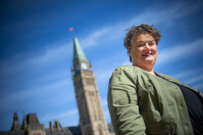 Ashley Fraser / Winnipeg Free Press</p><p>Jennifer Howard, the federal NDP's campaign manager, on Parliament Hill in Ottawa.</p>