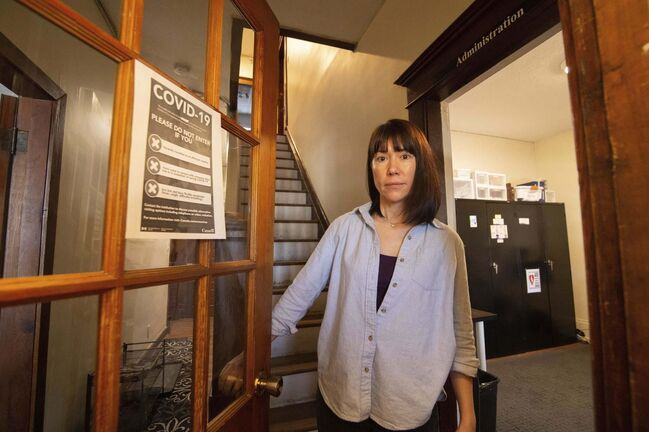 Lisa Cowan, executive director of the Tamarack Recovery Centre, said the centre is only closing now because its remaining clients all have safe places to go. (Mike Sudoma / Winnipeg Free Press)