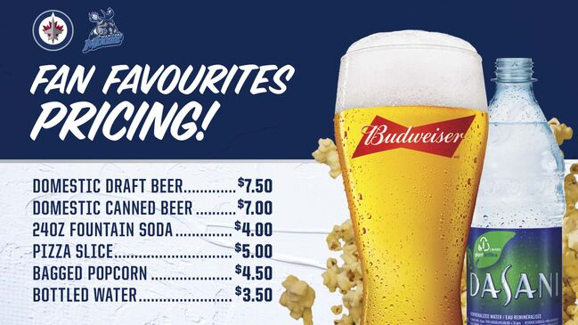 The Winnipeg Jets announced they are lowering beer prices. (TNSE photo)						</p>