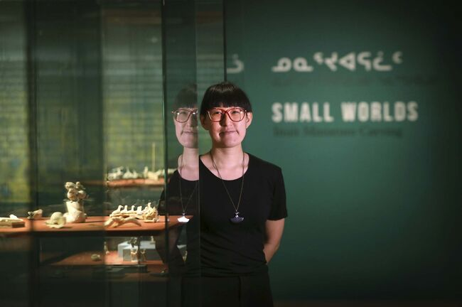 RUTH BONNEVILLE / WINNIPEG FREE PRESS</p><p>For her first show in her new role as the WAG's assistant curator of Inuit art, Jocelyn Piirainen is showcasing a collection of miniture Inuit carvings.</p>