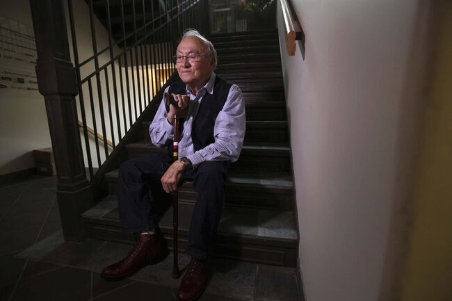 <p>Ruth Bonneville / Winnipeg Free Press FILES</p><p>Author and advocate Theodore Fontaine tours the former Assiniboia Indian Residential School in Winnipeg in 2015. The building is now home to the Canadian Centre for Child Protection.</p>