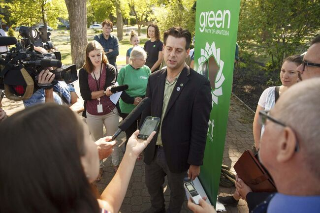 Provincial Green Leader James Beddome. (Mike Deal / Winnipeg Free Press files)						</p>