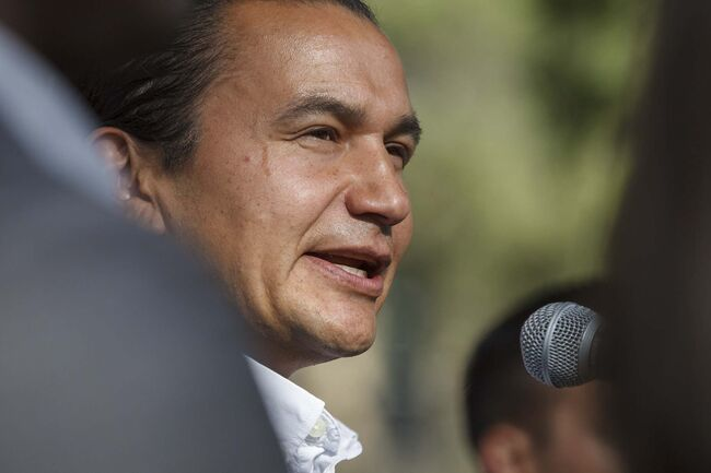 MIKE DEAL / WINNIPEG FREE PRESS</p><p>NDP Manitoba Leader Wab Kinew promises that his party would make parking at hospitals free for the first two hours if they are elected to government.</p>
