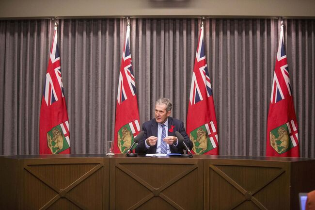 The premier also discussed removing eligibility restrictions for forage leases on Crown lands and removing the preference given to Manitoba residents who want to bid on cottage lots. (MIKAELA MACKENZIE / WINNIPEG FREE PRESS)						</p>