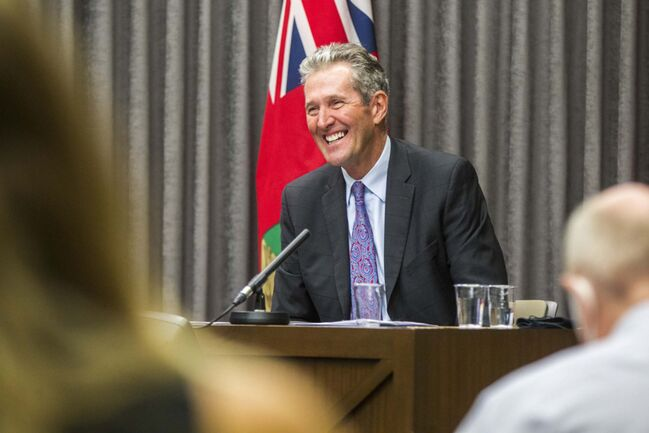 MIKAELA MACKENZIE / WINNIPEG FREE PRESS						</p>																	<p>Premier Brian Pallister's government announced it had balanced the province's budget last year, for the first time since 2009, posting a surplus of $5 million.						</p>