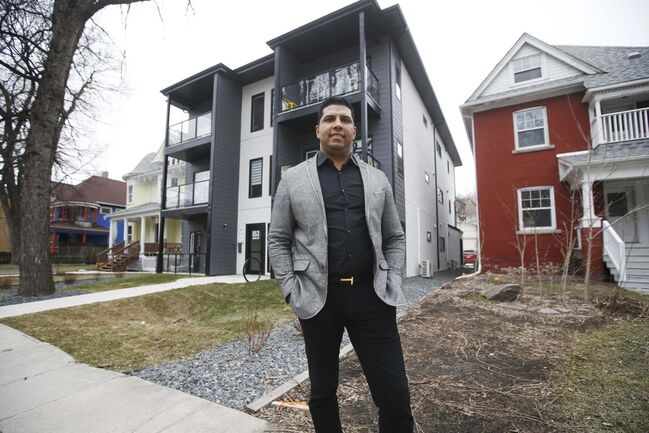 JOHN WOODS / WINNIPEG FREE PRESS</p><p>Nigel Furgus, president of Paragon Design Build, outside one of their recent infill projects on McMillan Avenue in Winnipeg.</p>