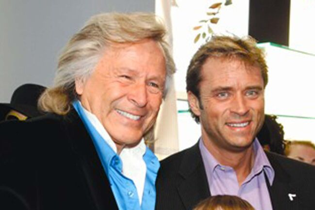 """Supplied</p>     <p>A photo from Nygard's corporate website shows Peter Nygard, left, with Kevin Klein at a 2008 company event in Winnipeg. Winnipeg Mayor Brian Bowman has asked the city councillor if Nygard's current legal challenges could """"distract"""" the him from his role as Winnipeg Police Board chair.</p>"""