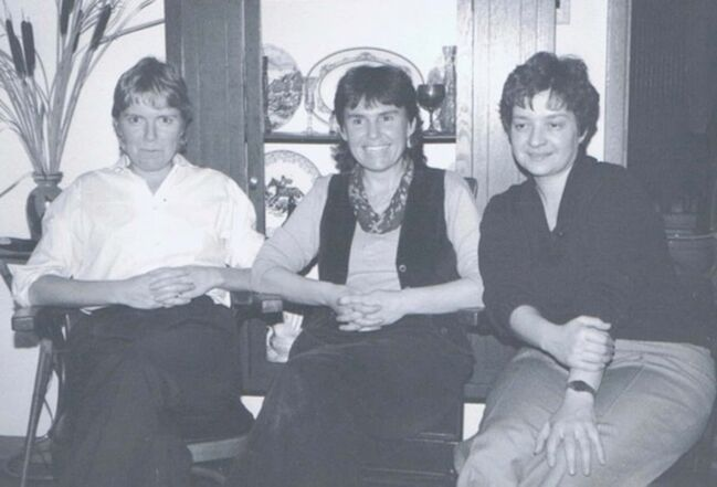 <p>Supplied</p><p>Ms. Purdy's founders Joan Campbell (from left), Bev Banks and Carol Billett in the early 1980s.</p>
