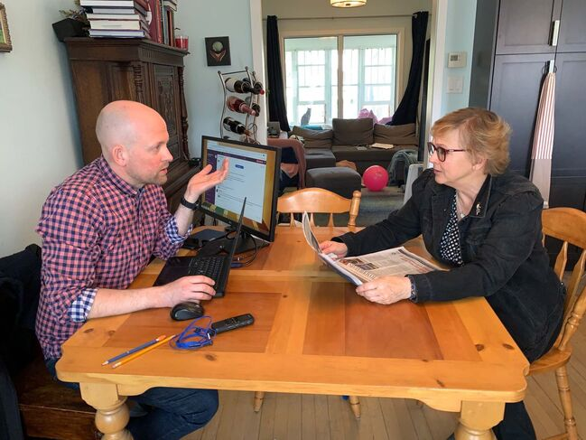 Free Press books editor Ben Sigurdson and his mom, Gail Cabana-Coldwell, talk all things newspaper.</p>