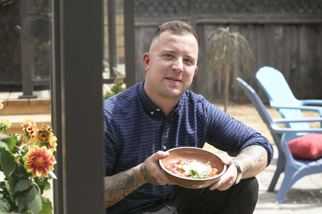 RUTH BONNEVILLE / WINNIPEG FREE PRESS</p><p>Brent Genyk, owner and head chef of Harth Mozza and Wine Bar, shares his recipe for gnocchi and pomodoro sauce.</p></p></p>